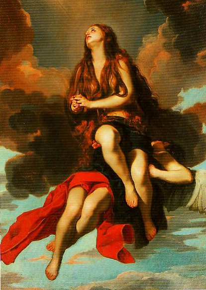 Mary Magdalen Carried to the Heavens by an Angel | Guido Cagnacci | Oil Painting