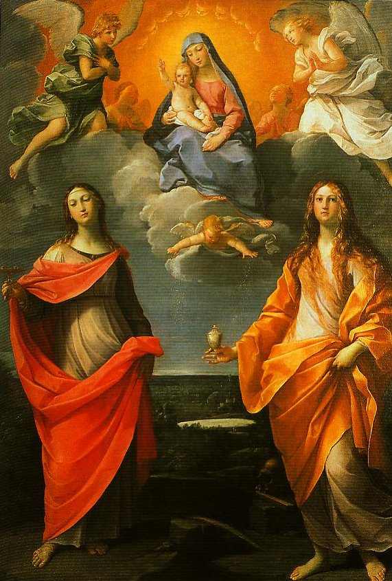 Madonna of the Snow with SS Lucy and Mary Magdalen | Guido Reni | Oil Painting