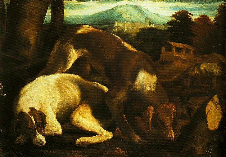 Two Dogs | Jacopo Bassano | Oil Painting