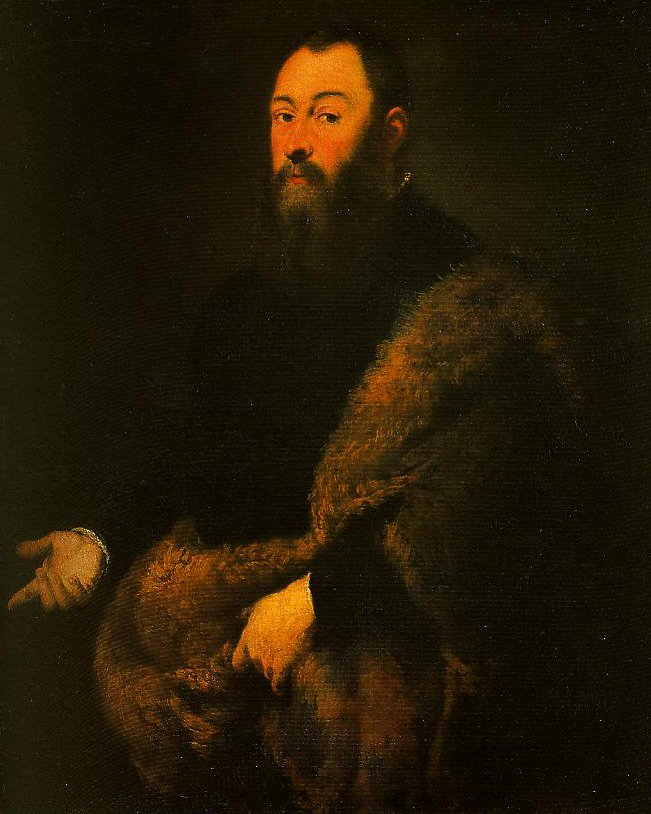 Portrait of a Gentleman in a Fur   Jacopo Tintoretto   Oil Painting