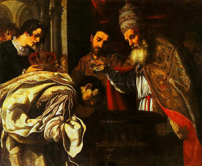 St Silvester Pope Beptises the Emperor Constantine | Jacopo Vignali | Oil Painting
