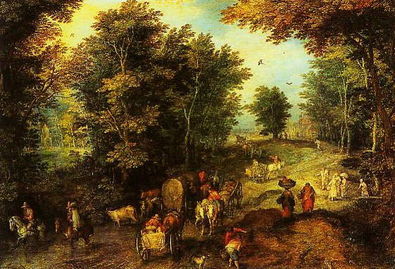 Landscape with a Ford | Jan Velvet Brueghel | Oil Painting