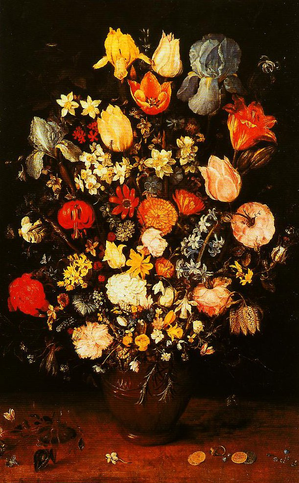 Vase of Flowers with Irises | Jan Velvet Brueghel | Oil Painting