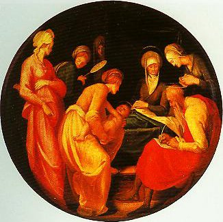 The Birth of the Baptist (birth salver) | Pontormo | Oil Painting