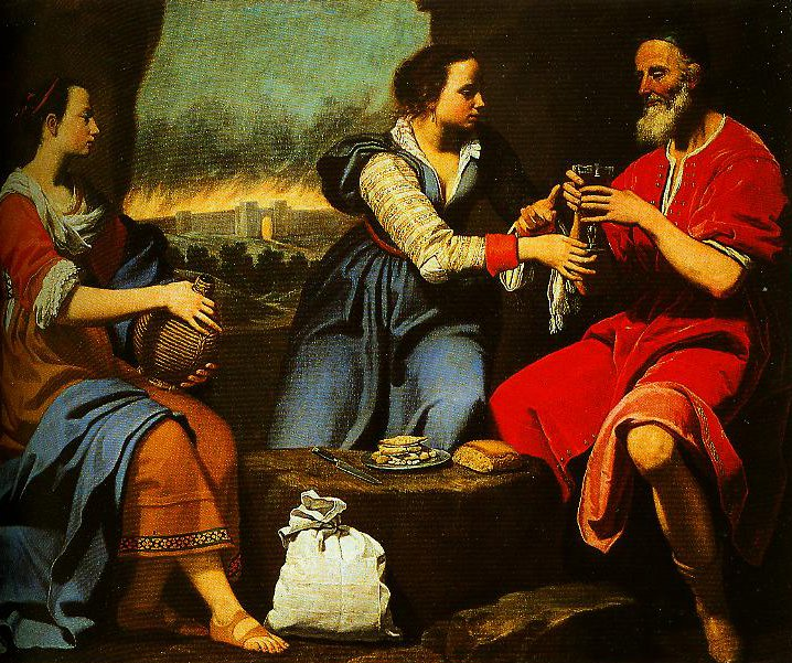 Lot and His Daughters | Lorenzo Lippi | Oil Painting