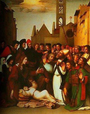 St Zenobius Raising a Boy from the Dead | Ridolfo Ghirlandaio | Oil Painting