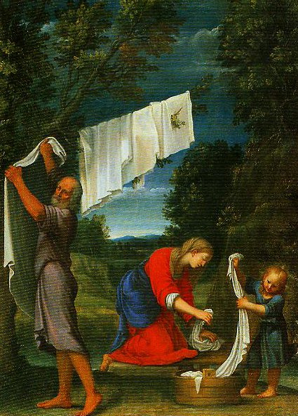 The Holy Family | Lucio Massari | Oil Painting