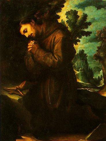 St Francis in Prayer | Ludoico Cigoli | Oil Painting