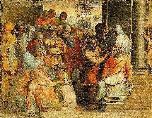 The Justice of Seleucus   Perino Del Vaga   Oil Painting