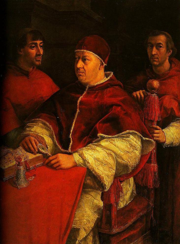 Portrait of Leo X with Cardinals Giulio de Medici and Luigi de Rossi | Raphael | Oil Painting