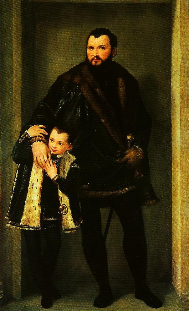 Portrait of Iseppo da Porto and His Son Adriano | Paolo Veronese | Oil Painting