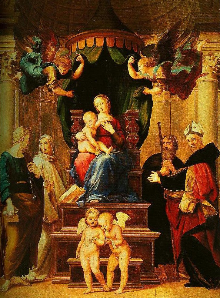 Madonna of the Baldachino | Raphael | Oil Painting