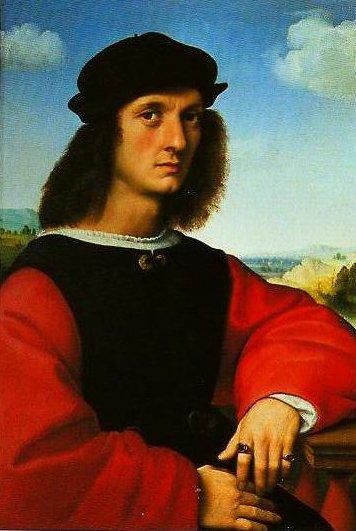 Portrait of Agnolo Doni | Raphael | Oil Painting