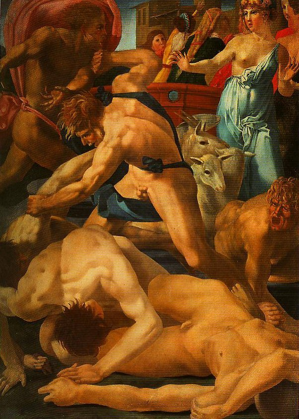 Moses Defending the Daughters of Jethro | Rosso Fiorentino | Oil Painting
