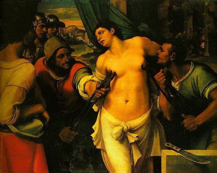 The Martyrdom of St Agatha | Sebastiano Del Piombo | Oil Painting