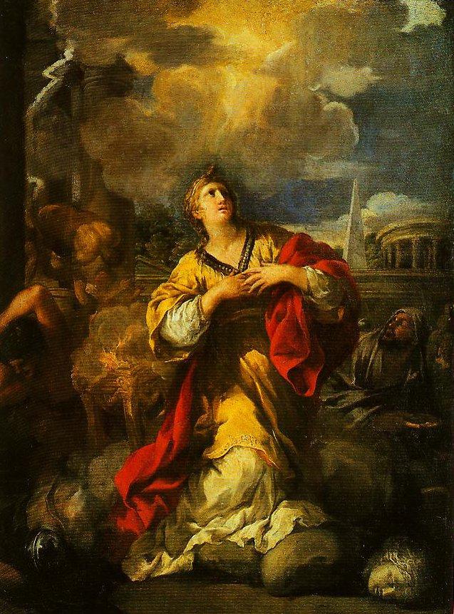 St Martina Refusing to Workship Idols | Pietro Da Cortona | Oil Painting
