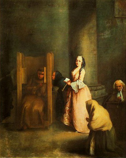 The Confession | Pietro Longhi | Oil Painting