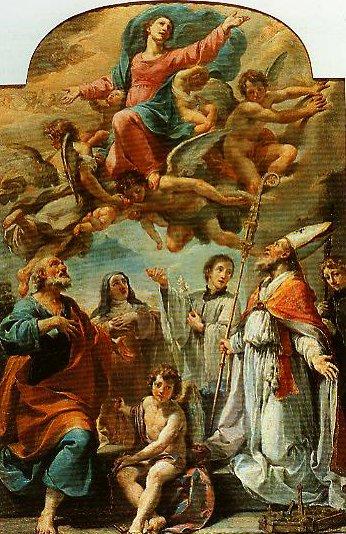 Madonna in Glory and Saints | Ubaldo Gandolfi | Oil Painting