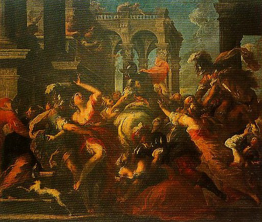 The Rape of the Sabine Women | Valerio Castello | Oil Painting