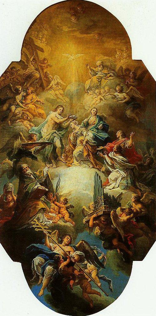 The Clorification of St Cecilia   Sebastiano Conca   Oil Painting
