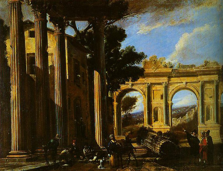 Architectural View with Two Arches | Vivano Codazzi | Oil Painting