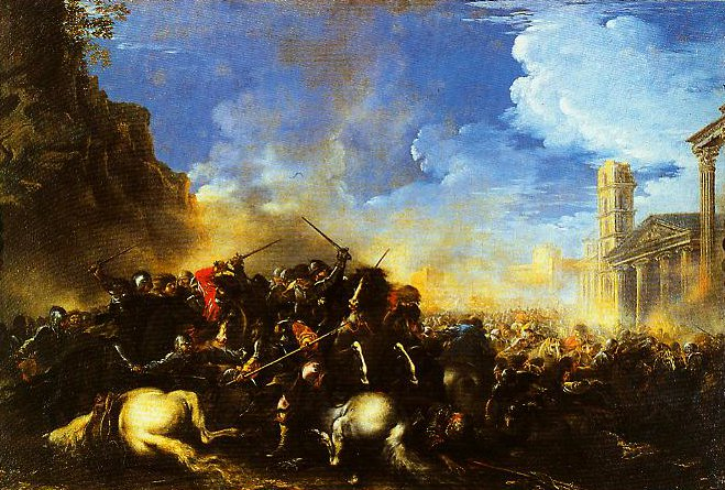 Battle between Christians and Turks | Salvator Rosa | Oil Painting