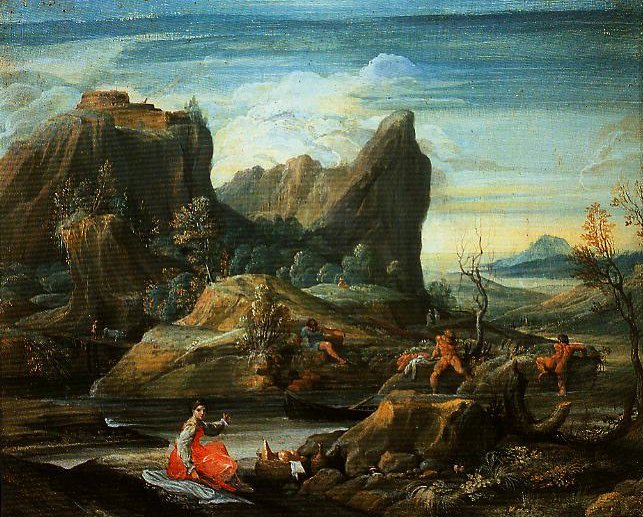 Landscape with Bathers | Agostino Carracci | Oil Painting