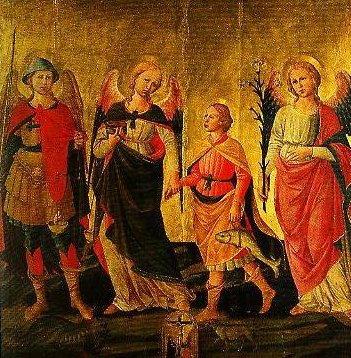 Tobias and the Three Archangels   Demenico Di Michelino   Oil Painting