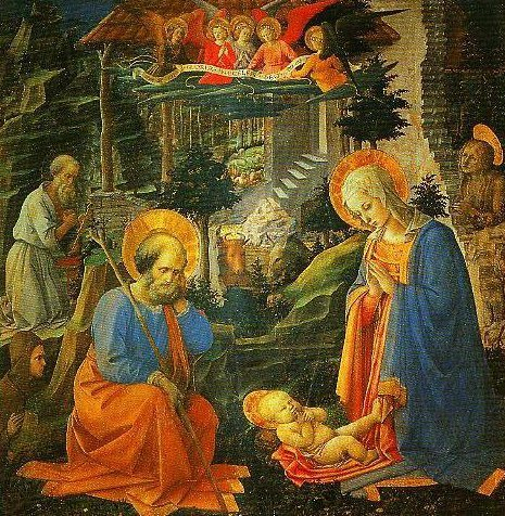 The Adoration with SS Joseph Jerome Mary Magdalen and Ilarion | Filippo Lippi | Oil Painting