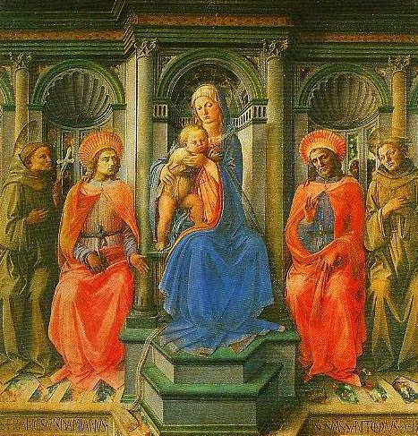 Madonna Enthroned with Four Saints Tempera on panel | Filippo Lippi | Oil Painting