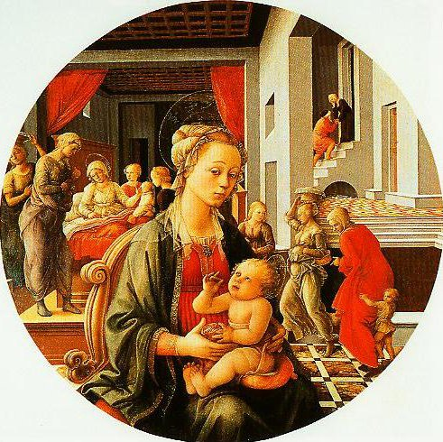 Madonna and Child with Stories of the Life of Stories of the Life of St Anne | Filippo Lippi | Oil Painting