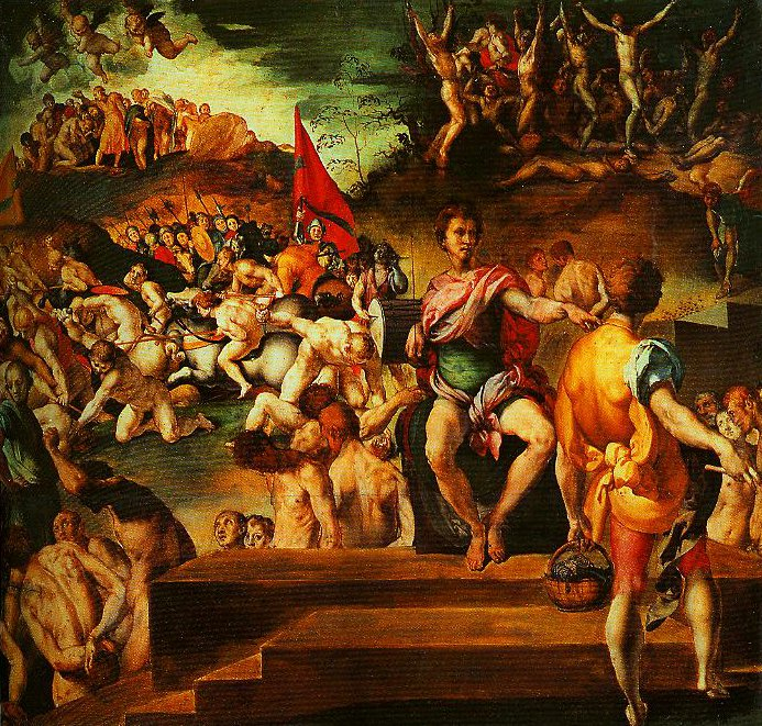 Martyrdom of St Maurice and the Theban Legions | Pontormo | Oil Painting
