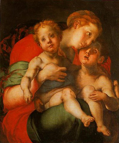 Madonna and Child with the Young St Jhon | Pontormo | Oil Painting
