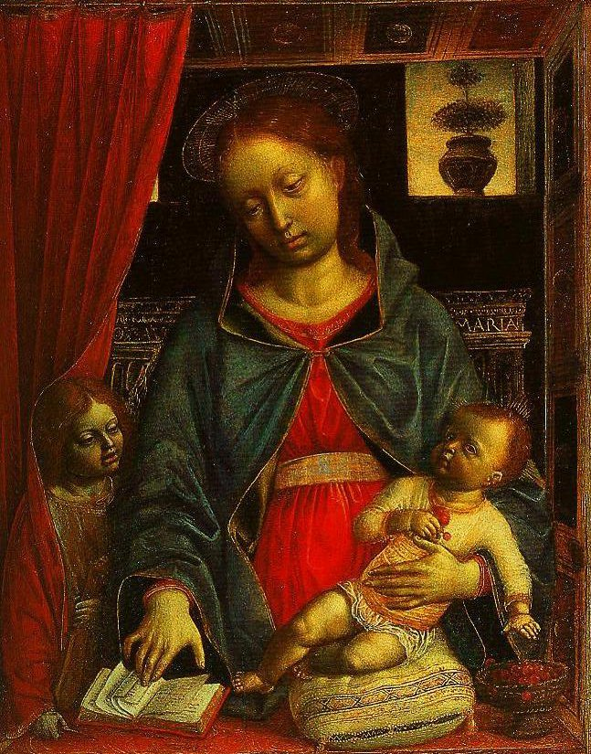 Madonna and Child with an Angel | Vincenzo Foppa | Oil Painting