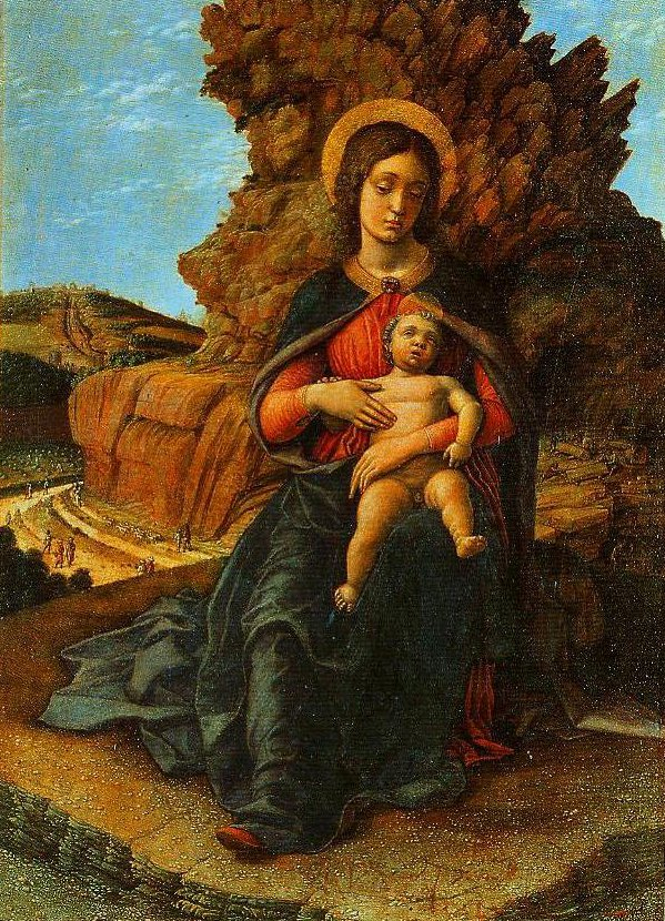 Madonna and Child (Maddonna of the Caves) | Andrea Mantegna | Oil Painting