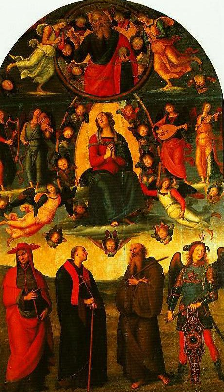 The Assumption of the Virgin with Saints | Peruglno | Oil Painting