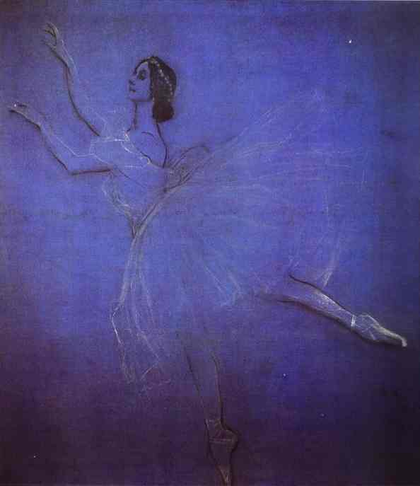 Anna Pavlova In The Ballet Sylphyde
