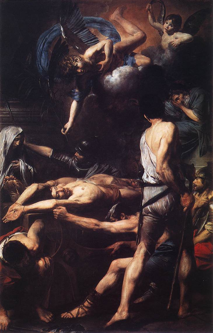 Martyrdom Of St Processus And St Martinian 1629 | Valentin De Boulogne | oil painting