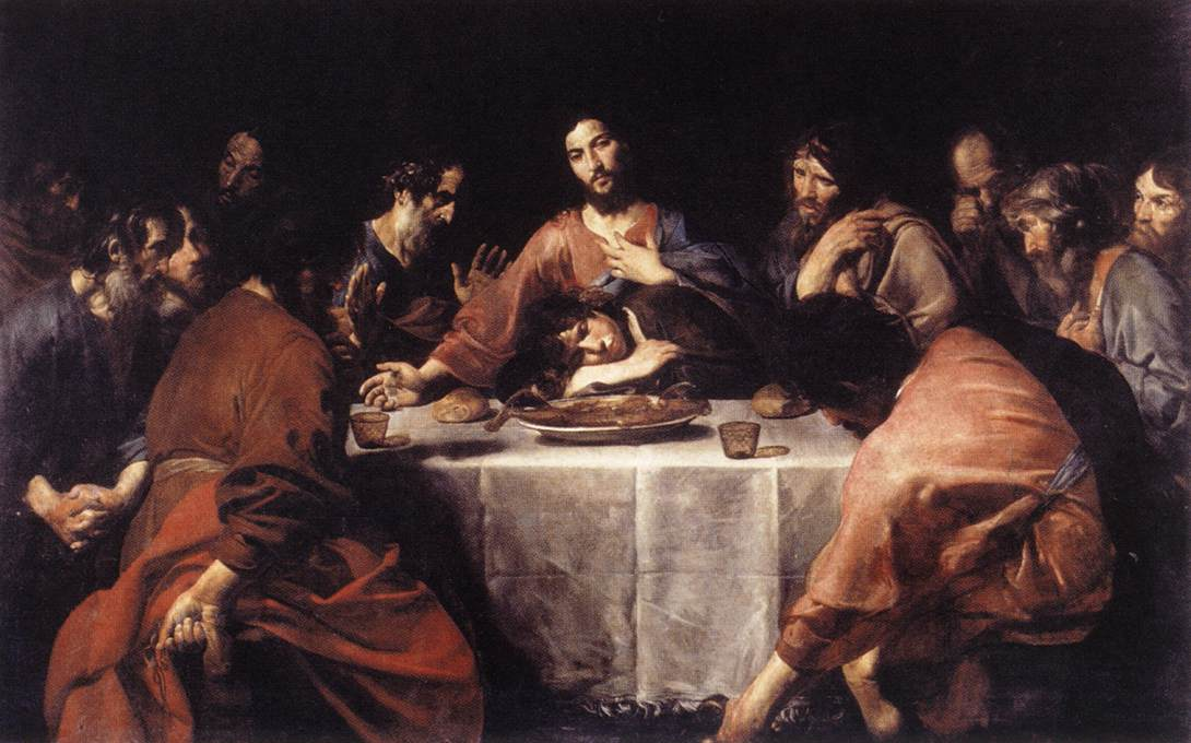The Last Supper 1625-26 | Valentin De Boulogne | oil painting