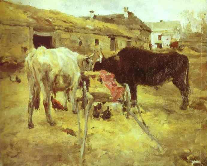 Bullocks Study 1885 | Valentin Serov | oil painting