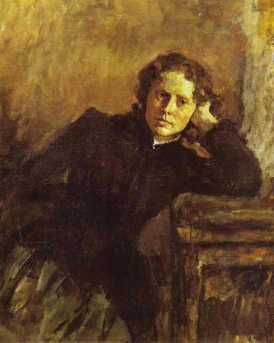 By The Window Portrait Of Olga Trubnikova Unfinished 1885 | Valentin Serov | oil painting