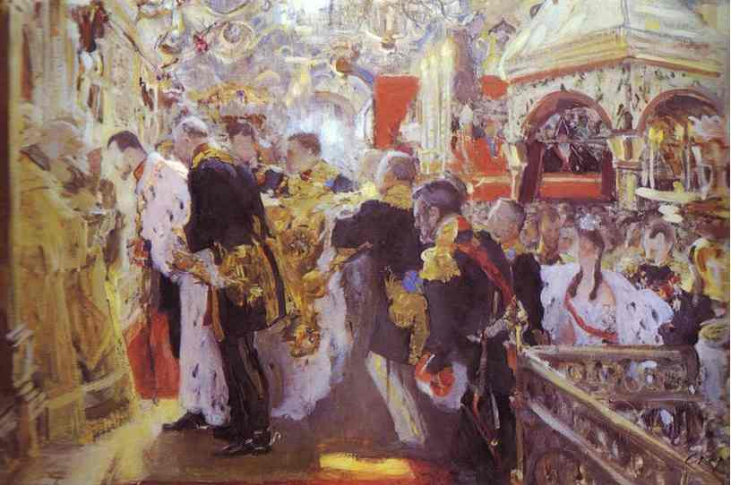 Coronation Of The Emperor Nicholas II In The Uspensky Cathedral 1896 | Valentin Serov | oil painting