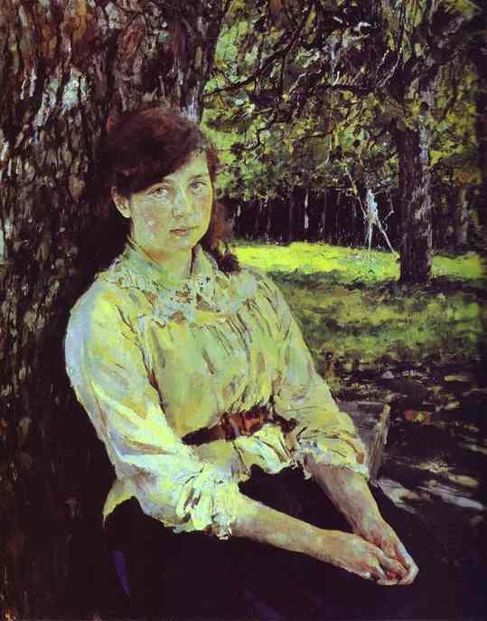 Girl In The Sunlight Portrait Of Maria Simonovich 1888 | Valentin Serov | oil painting
