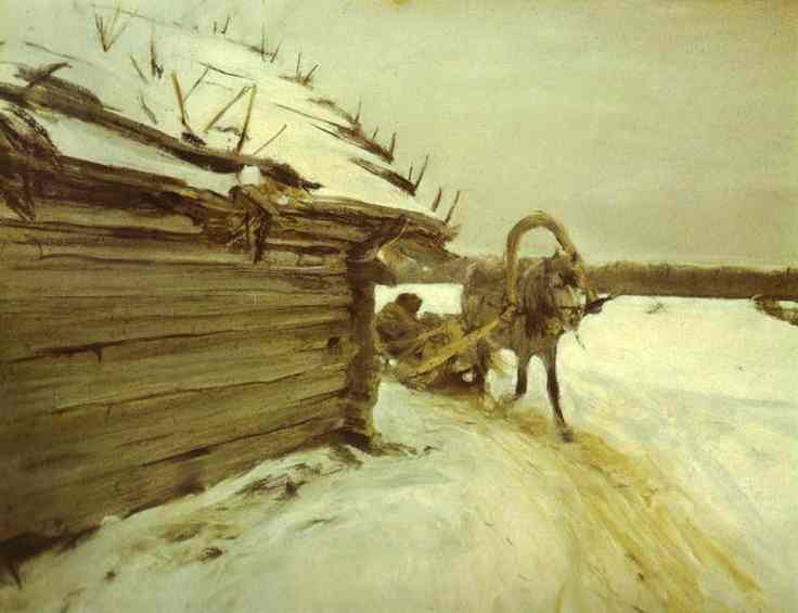 In Winter 1898 | Valentin Serov | oil painting