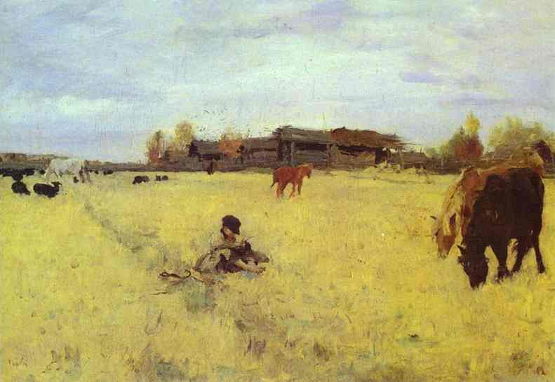 October Domotcanovo 1895 | Valentin Serov | oil painting