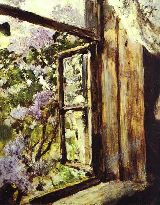 Open Window Lilacs Study 1886 | Valentin Serov | oil painting