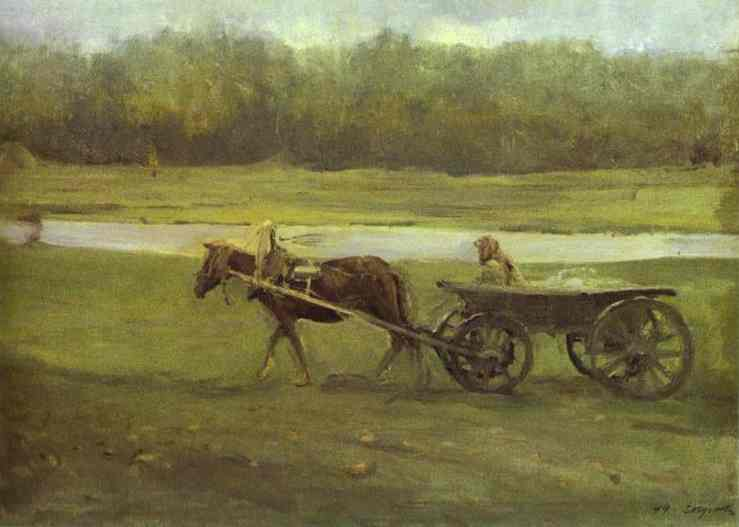 Peasant Woman In A Cart 1896 | Valentin Serov | oil painting
