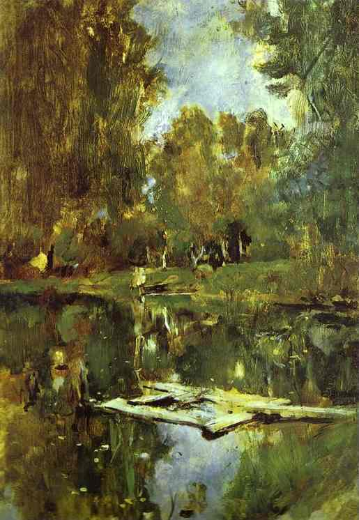 Pond In Abramtsevo Study 1886 | Valentin Serov | oil painting