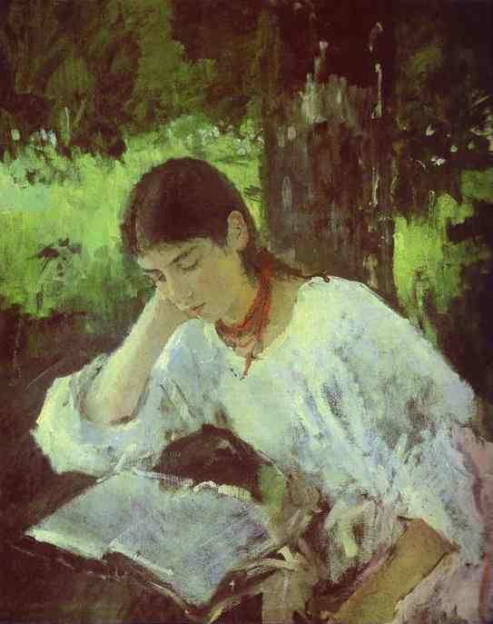 Portrait Of Adelaida Simonovich 1889 | Valentin Serov | oil painting