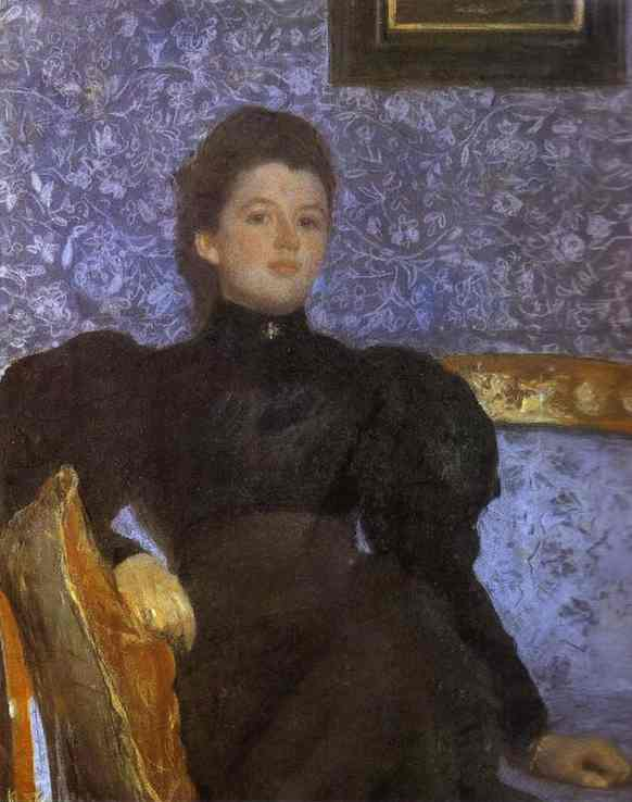 Portrait Of Countess Varvara Musina Pushkina 1895 | Valentin Serov | oil painting